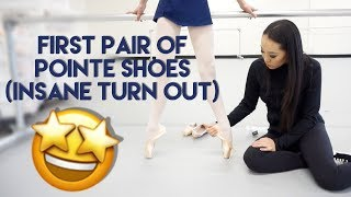 Pointe shoe fitting for First …