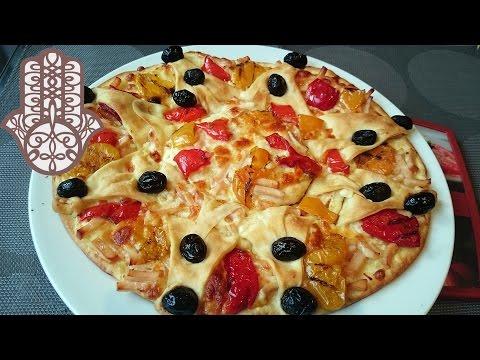 pizza-au-poulet-et-poivrons