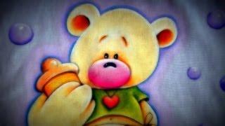 Pintando Um lindo Ursinho na pintura em tecido
