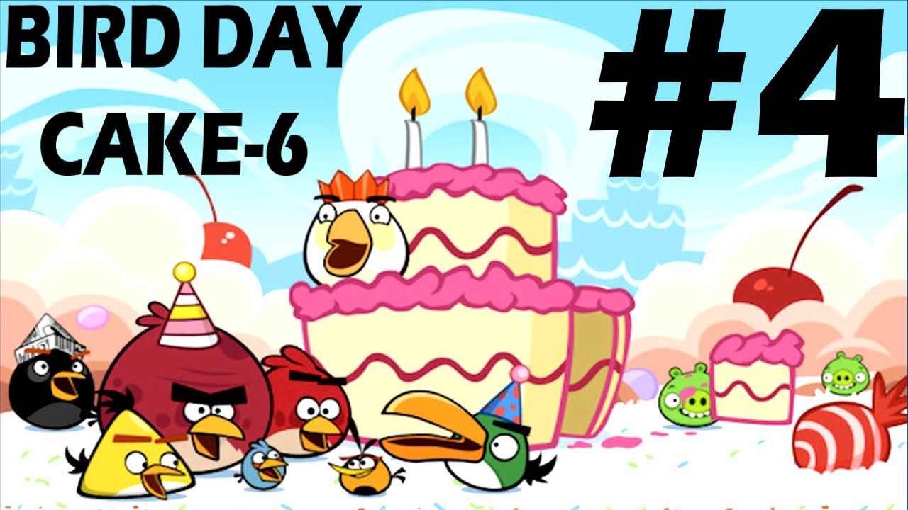 Angry Birds-Birdday Party Cake 6 Level-4 Three Star ...
