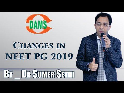Changes in NEET PG 2019