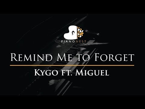 Kygo - Remind Me to Forget ft. Miguel - Piano Karaoke / Sing Along / Cover with Lyrics