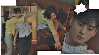 엎치락뒤치락♡ 임수향(Lim soo hyang)과 초밀착에 굳어버린 은우봇(Cha eun woo)⊙_⊙ 내 아이디는 강남미인(Gangnam Beauty) 15회