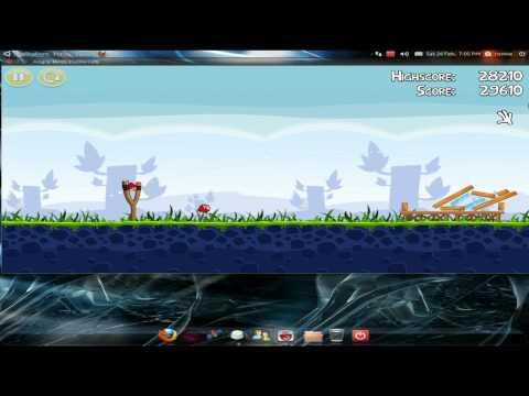 Play testing angry birds on ubuntu 10.10