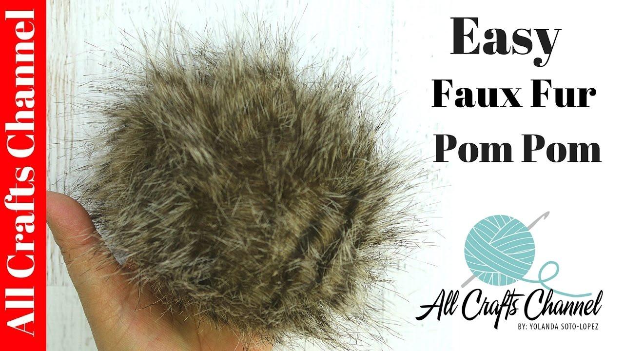 76c56e2b38e Easy to make Faux Fur Pom Poms - YouTube