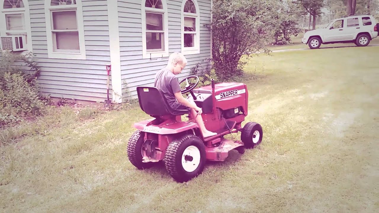 vintage snapper lt12 lawn tractor craigslist find youtube