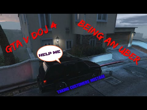 GRAND THEFT AUTO V ROLEPLAY DOJ 4 UBER DRIVER KIDNAPPING CUSTOMERS (Criminal)