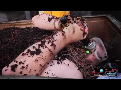 Man Covered With 20,000 Live Worms