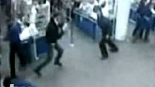 Russian Security Guards Group Fight 4 on 1