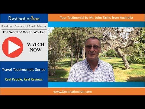 Tour to Iran from Australia, Mr. John Tasho