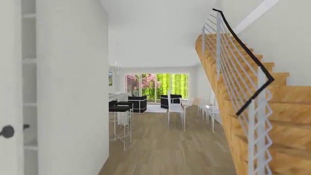 t4 maison de ville mitoyenne youtube. Black Bedroom Furniture Sets. Home Design Ideas