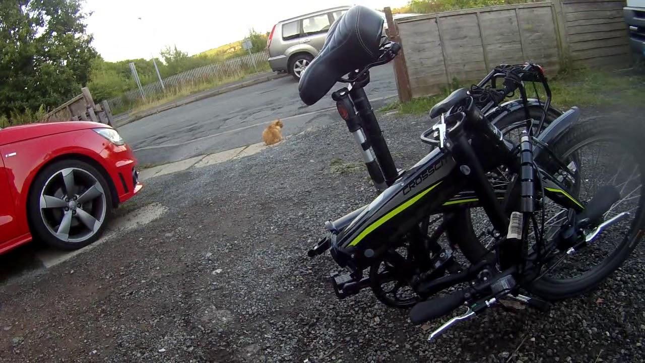 Folding A Carrera Croscity Electric Bike Youtube