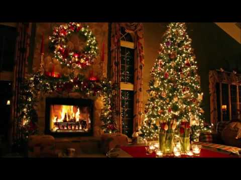 Classic Christmas Music with a Fireplace and Beautiful Background Classics 2 hours 2017