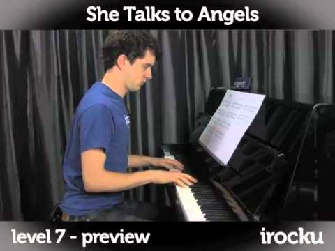 She Talks To Angels By The Black Crowes Piano Lesson On Irocku