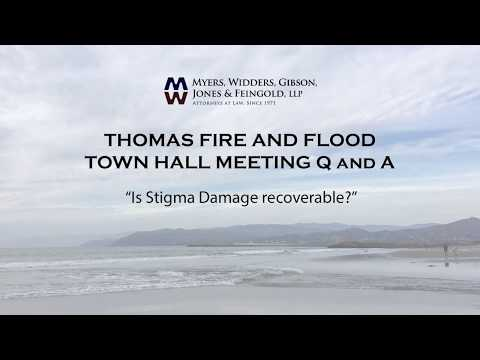 "Thomas Fire - Will my damaged home have ""stigma damage""?"