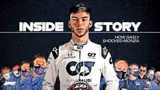 PIERRE GASLY REACTS to his 2020 Monza Victory