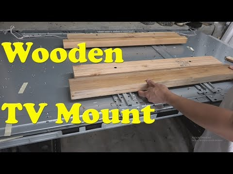 DIY: Home made heavy duty TV wall mount with 2x4 wood studs