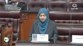 #DewanNegara YB Senator Ustazah Asmak bahas RUU Mansuh GST