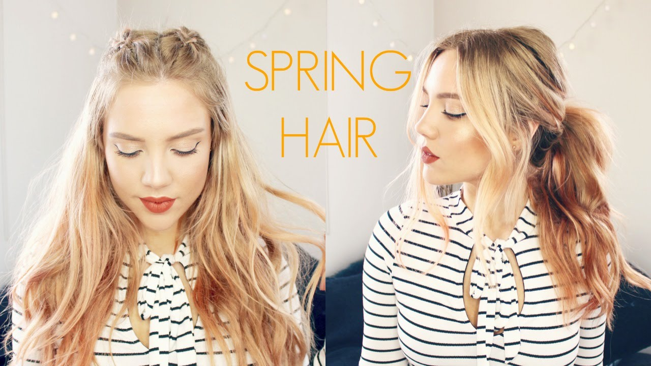 Quick & Easy SPRING Hairstyles - YouTube