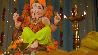 Low angle shot of Lord Ganesha idol on Ganesh Chaturthi - Indian Festival