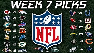 NFL Week 7 PIcks 2019