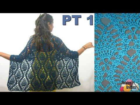 Pineapple lace shawl crochet tutorial part 1 youtube pineapple lace shawl crochet tutorial part 1 dt1010fo