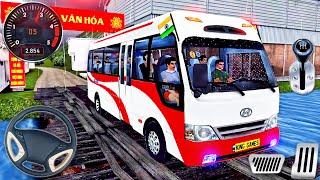 Indian Mobile Bus Hyundai County Driving - Minibus Simulator Vietnam - Android GamePlay # 2