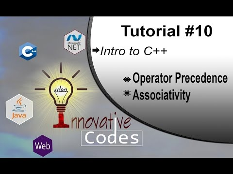 Operator Precedence And Associativity in C++ In Hindi Urdu