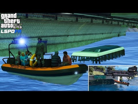 GTA 5 Hurricane Rescue   Bus Trapped In A Flooded Tunnel   ARMY Helicopter Lifts Coast  Guard Boat