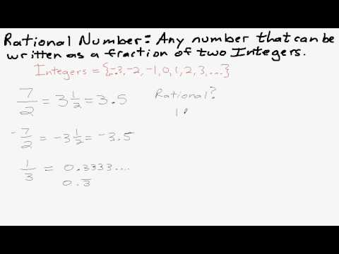Rational and Irrational Numbers (with songs, videos