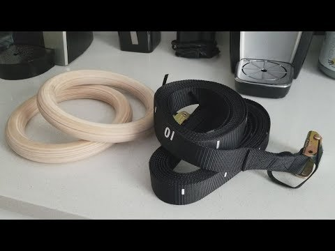 Solid Wood Gymnastics Rings Strength Training Workout RINGS By Pacearth REVIEW!