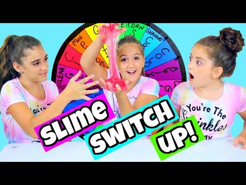Mystery Wheel of Slime Switch Up Challenge!