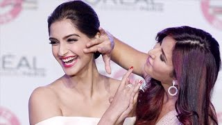 Video Katrina Kaif Kisses Sonam Kapoor at the L'Oreal New Cannes Collection Event download MP3, 3GP, MP4, WEBM, AVI, FLV Desember 2017