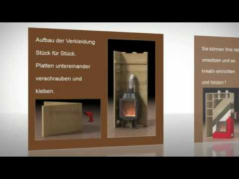 kaminverkleidung kaminbausatz selber bauen youtube. Black Bedroom Furniture Sets. Home Design Ideas
