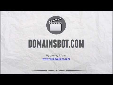 [ Create Your Own Website ] 7. Domainsbot.com