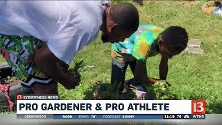 Young Urban Gardener gets visit from Glenn Robinson