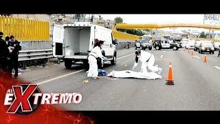 ¡Hombre atropellado en la México-Toluca! Estaba a escasos metros del puente peatonal. | Al Extremo