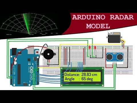 Arduino RADAR Model using Ultrasonic Sensor for Detection & Ranging
