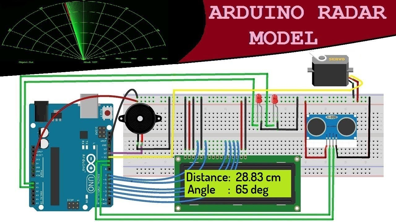 Arduino RADAR Model for Distance & Angle Finding using Ultrasonic Sensor