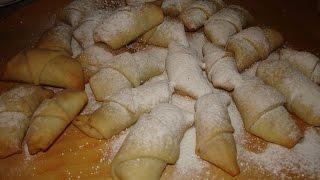 Постное печенье с орехами на минеральной воде