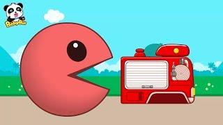 快看!吃豆人吃下了消防車、警車還有一輛小貨車,好神奇!+更多合集 | 兒童卡通動畫 | 幼兒音樂歌曲 | 兒歌 | 童謠 | 動畫片 | 卡通片 | 寶寶巴士 | 奇奇 | 妙妙