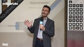 MADE 2019 | KNAUF - Roberto Nava presenta Aquapanel il rivestimento esterno ed interno