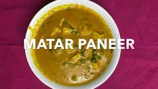 Matar Paneer for beginners.