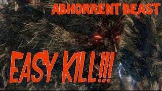 Bloodborne. Abhorrent Beast (Отвратительное чудовище) - easy kill