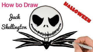 How to Draw Jack Skellington from The Nightmare Before Christmas | Halloween Drawings