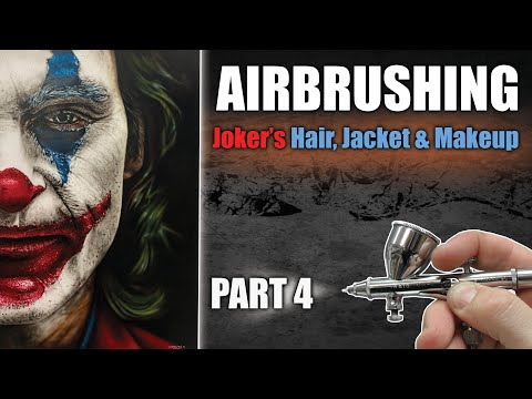 Learn how to Airbrush / Paint the Joker : Part 4