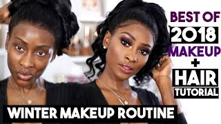 WINTER FOUNDATION ROUTINE USING 2018 FAVOURITES & QUICK HAIR TUTORIAL | DSOAR HAIR