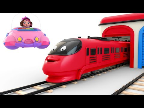 Pinky and Panda Fun Play Preschool Toy Train  - Colors Videos Collection for Children