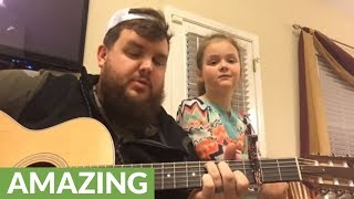 Daddy daughter duo cover 'Love Yourself' by Justin Bieber
