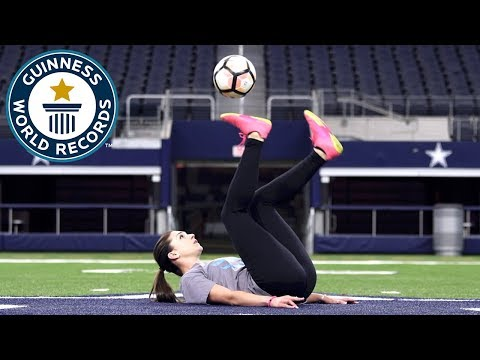 Most touches of a football with the soles in one minute (female) – Indi Cowie Guinness World Records